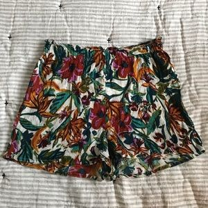 High waisted floral floaty shorts